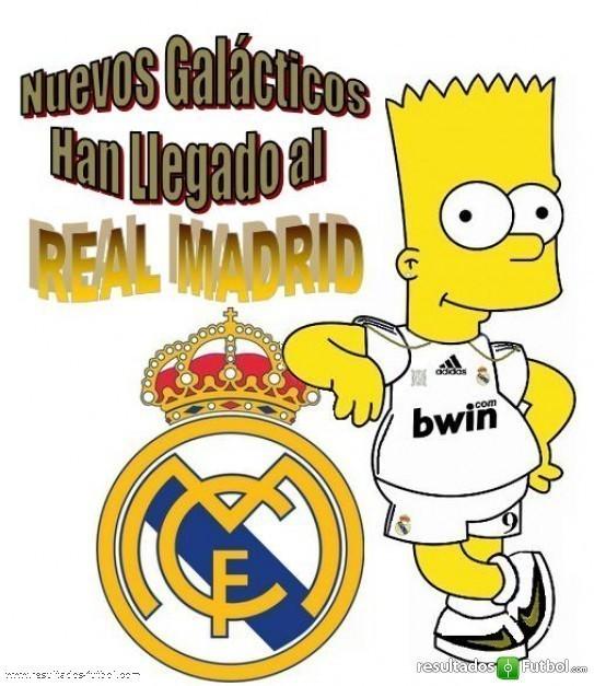 Homero usando la camisa del real madrid - Imagui