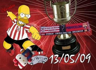 Bart Simpson En La Final De La Copa Del Rey 13 02 2009