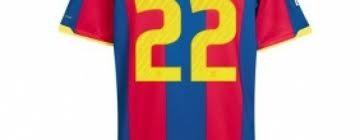 Camiseta número 22 del Fútbol Club Barcelona