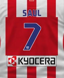 Camiseta Atlético de Madrid Saúl