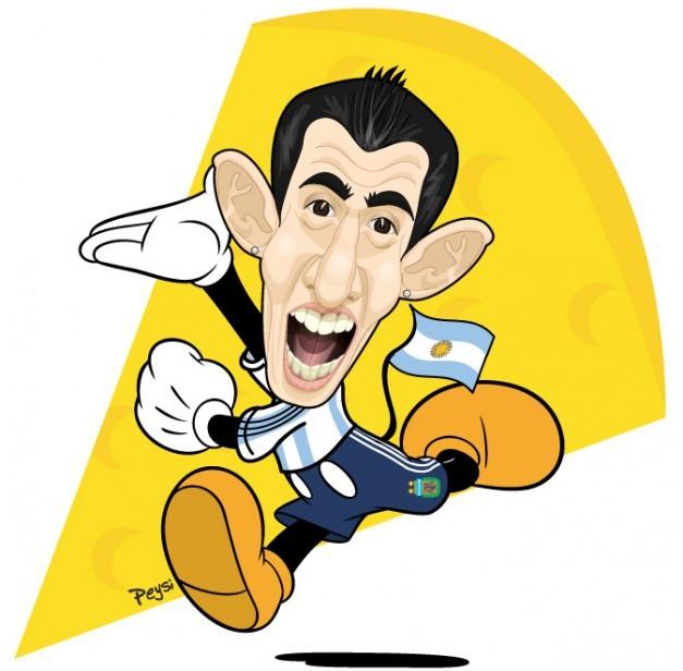 Foto - Caricatura de Di María