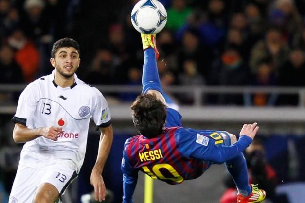 chilena de Messi conra Al Saad