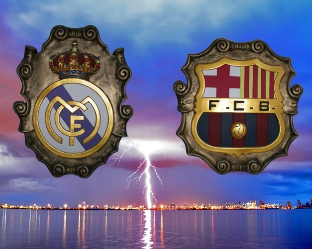 Escudos Real Madrid vs Barcelona
