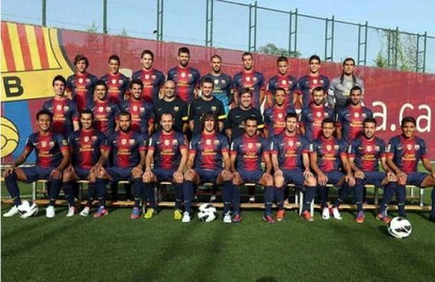 Formacion 2013 FC Barcelona