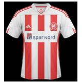 Primera equipación del Aalborg BK