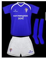 Primera equipación del San Fernando C.F.