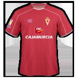 Primera equipación del Real Murcia