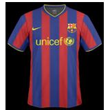 Primera equipación del Barcelona