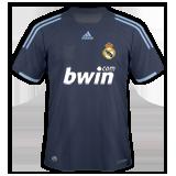 Segunda equipación del Real Madrid B