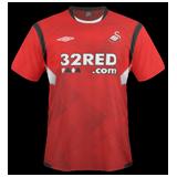 Segunda equipación del Swansea City