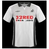 Primera equipación del Swansea City