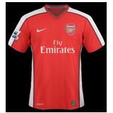 Primera equipación del Arsenal