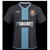 Segunda equipación del West Ham