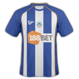 Primera equipación del Wigan Athletic