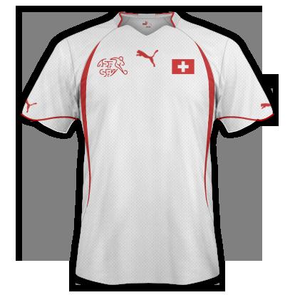 Segunda equipación del Suiza