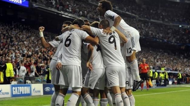 Los jugadores del Real Madrid celen uno de los goles ante la Juventus
