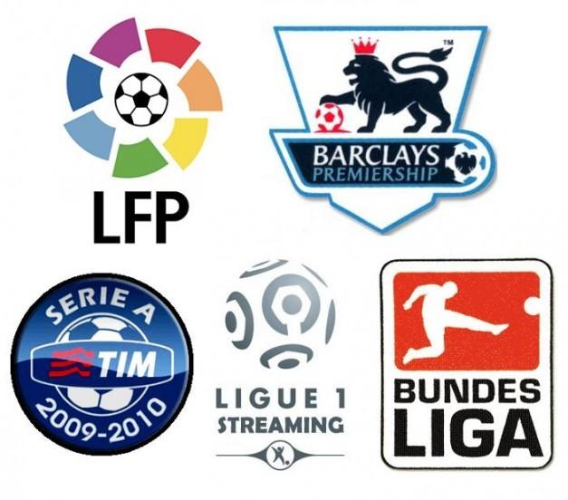 Logos de algunas Ligas europeas.