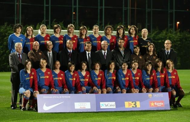 Plantilla del equipo femenino del Barcelona