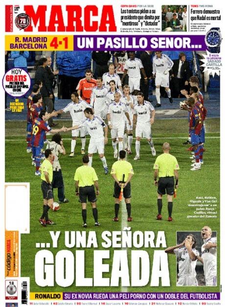 Foto portada marca barcelona vs real madrid for Madrid sevilla marca
