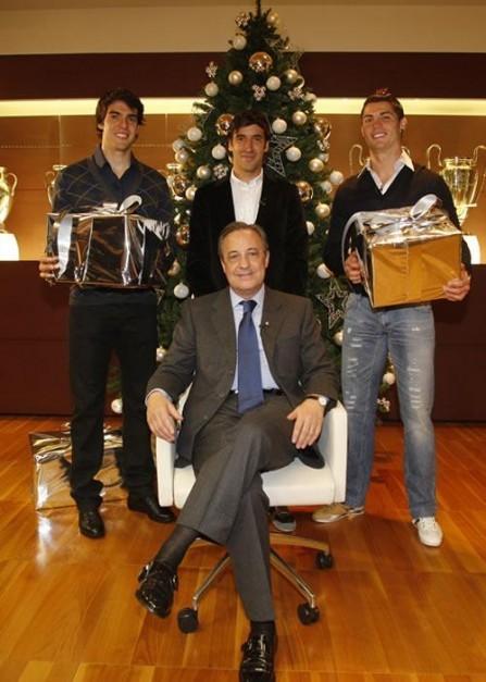 Postal Navideña del Real Madrid